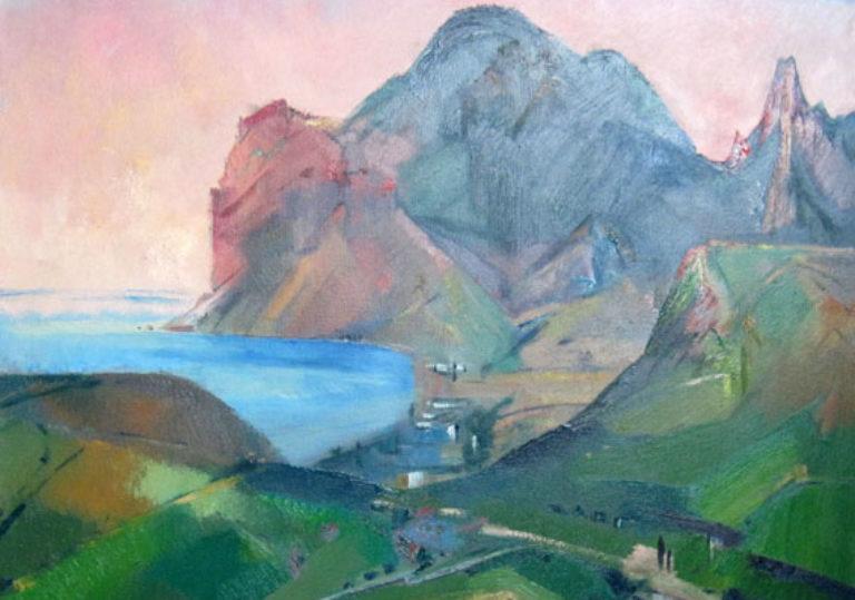 Солнце, горы и вода