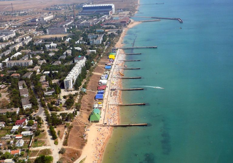 Центральный пляж в Приморском
