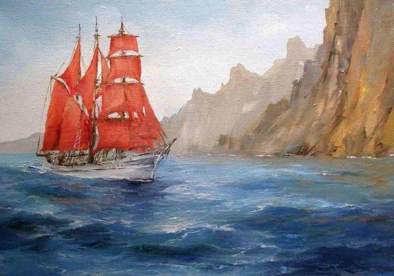Выставка, посвященная произведениям «Алые Паруса» и «Бегущая по волнам»