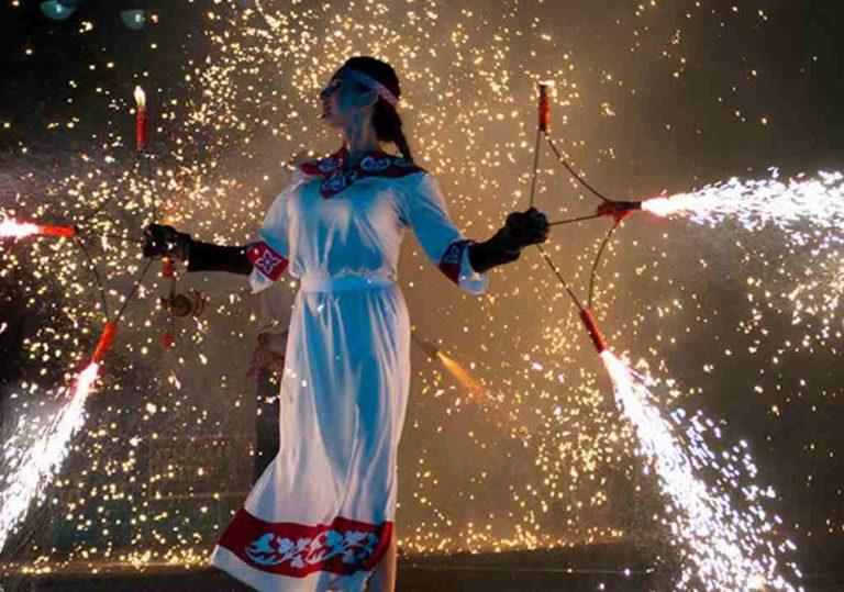 Фестиваль уличных театров «Крым Fire Fest» в Коктебеле