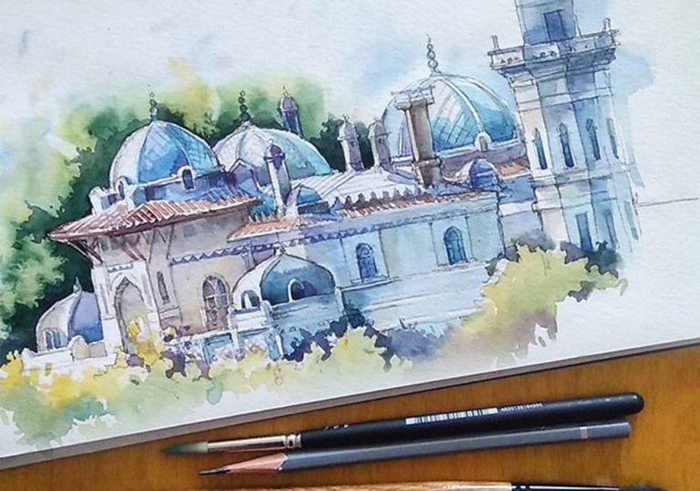 Пленэр  «Акварельный этюд  старинной архитектуры»