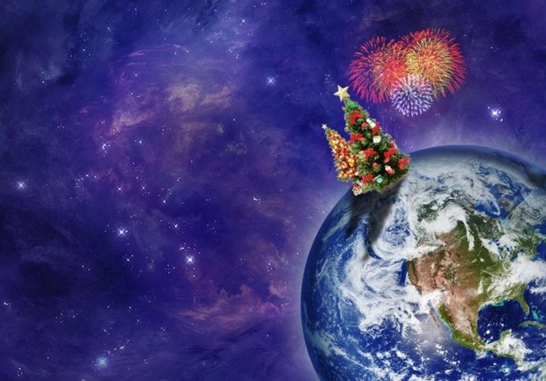 Новый год в космосе картинка