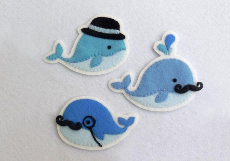 10 мая — Мастер-класс «Значок из фетра (медуза или кит)»