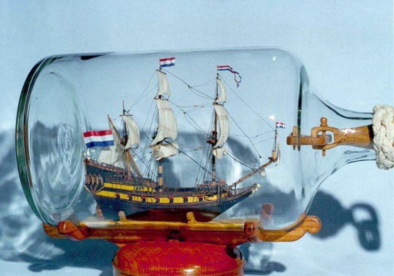 Выставка « Корабли в бутылках». В. И. Кунец