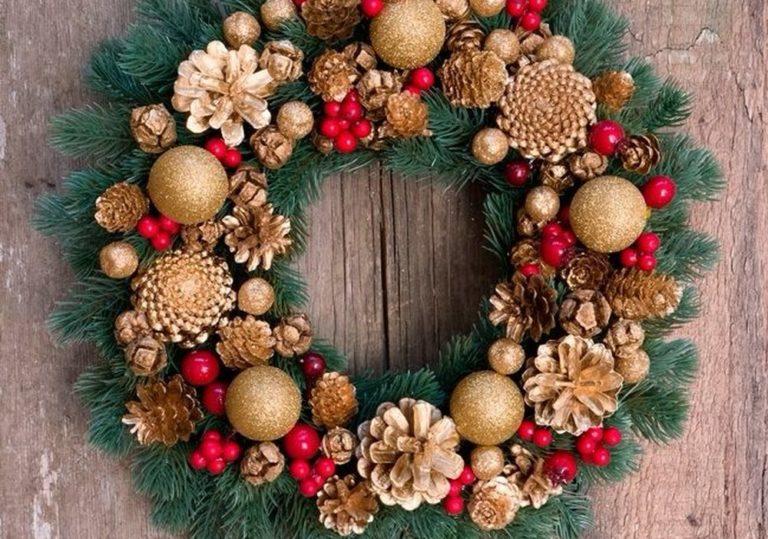 28 декабря — Мастер-класс «Рождественский венок «Праздничное настроение»