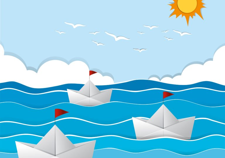 02 февраля — Мастер-класс «Бумажные кораблики», аппликация