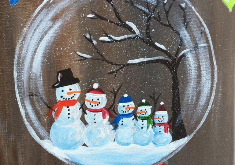 11 января — Мастер-класс «Семья снеговиков», гуашь