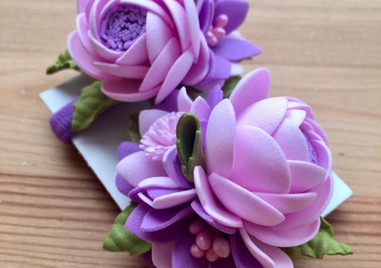 8 марта мастер-класс «Первоцветы», учимся делать цветы из фомиарана и бумаги