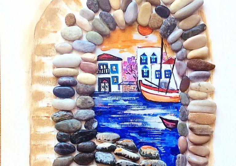 22 февраля — Мастер-класс «Тихая гавань», создаём объёмную картину из гальки.