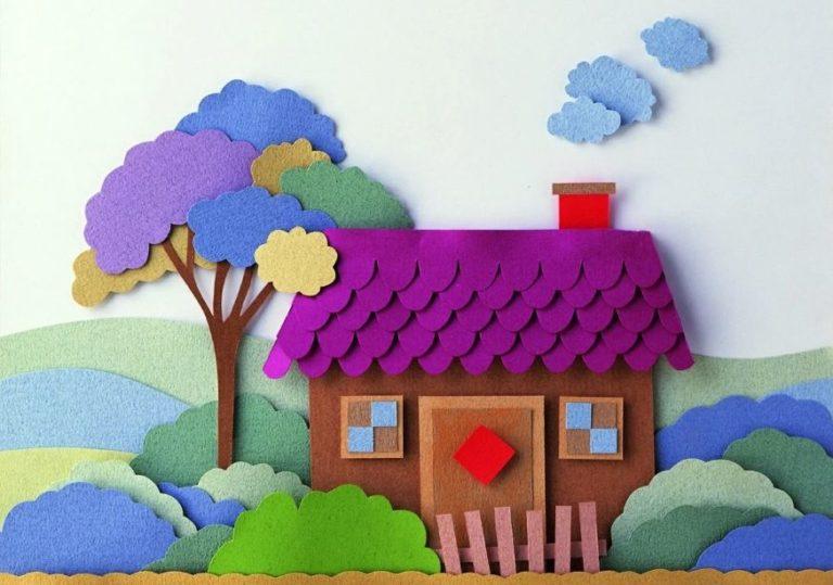 8 марта мастер-класс «Сказочный город», создаём панно из цветной бумаги и картона
