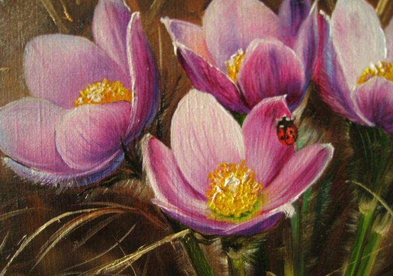 01 марта — Мастер-класс «Первоцвет», рисуем весенние цветы пастелью