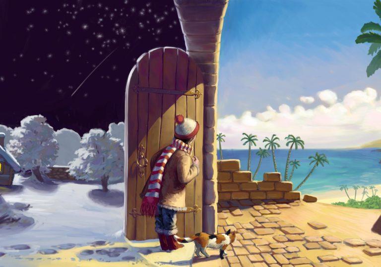 21 марта мастер-класс «Открываем новый мир», иллюстрация, гуашь.