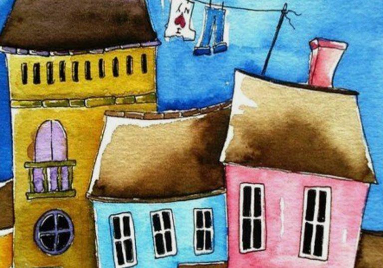 2 мая мастер-класс «Город у моря», рисунок, гуашь
