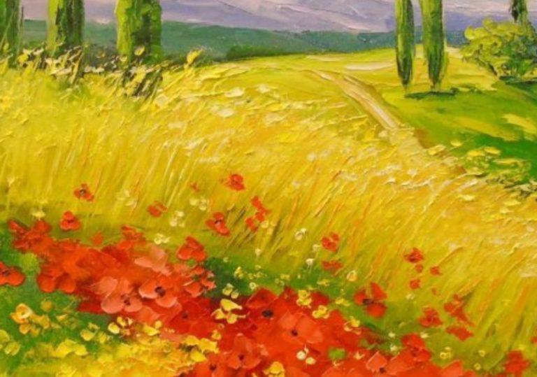 9 мая мастер-класс «Маки», рисунок, сухая пастель