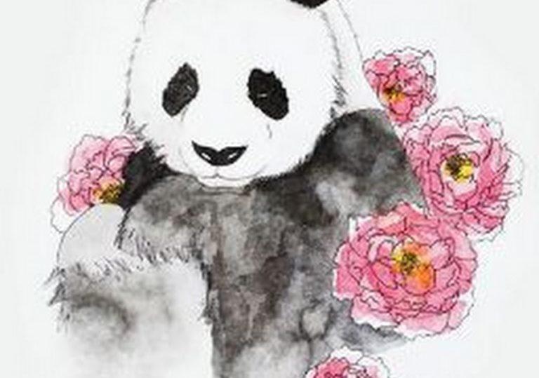 13 апреля мастер-класс «Панда-Папанда», рисунок, акварель